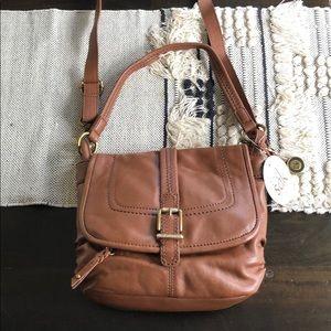 the Sak Silverlake cognac leather shoulder bag
